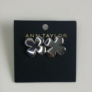 Ann Taylor silver flower stud earrings